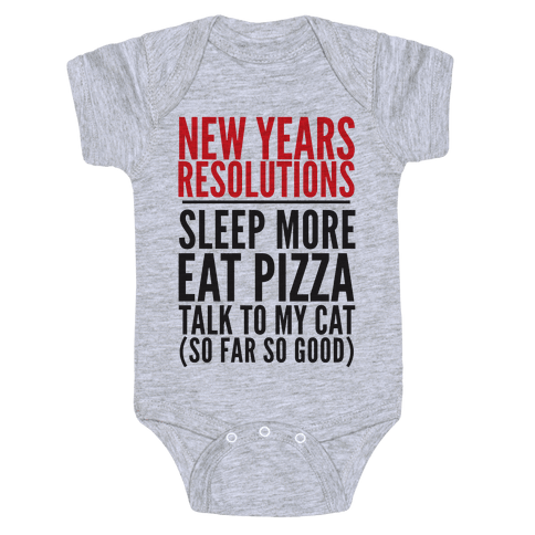New Year Resolutions Baby Onesy