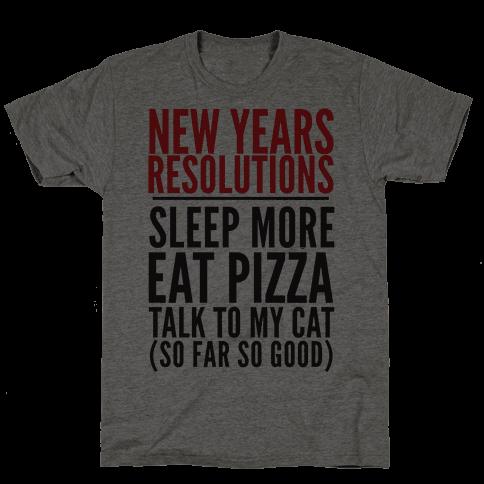 New Year Resolutions Mens T-Shirt