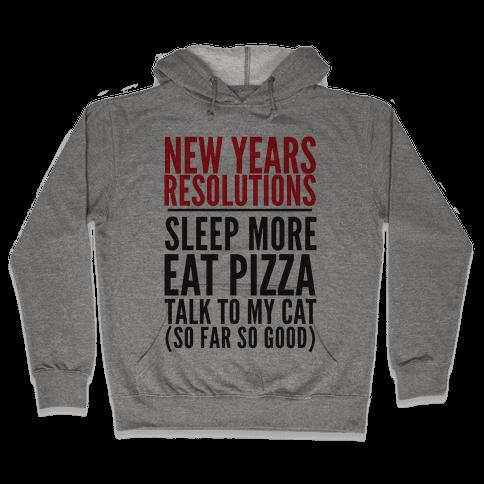 New Year Resolutions Hooded Sweatshirt