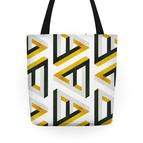Triangle Optical Illusion Tote Tote