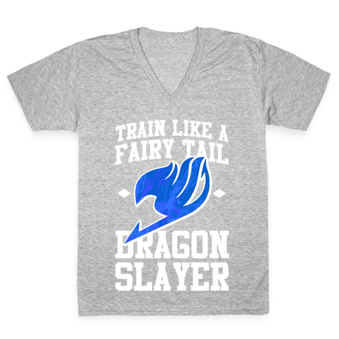 Train Like a Fairy Tail Dragon Slayer (Wendy) V-Neck Tee Shirt