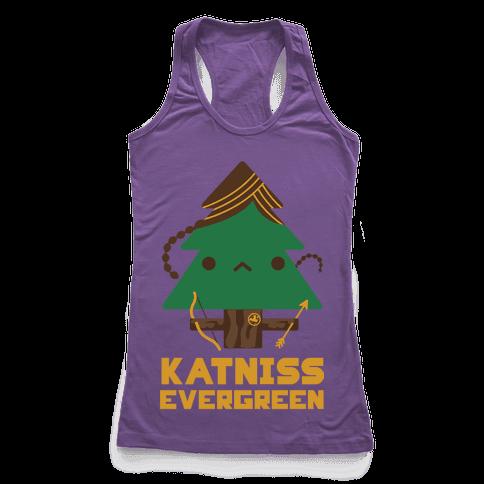 Katniss Evergreen Racerback Tank Top
