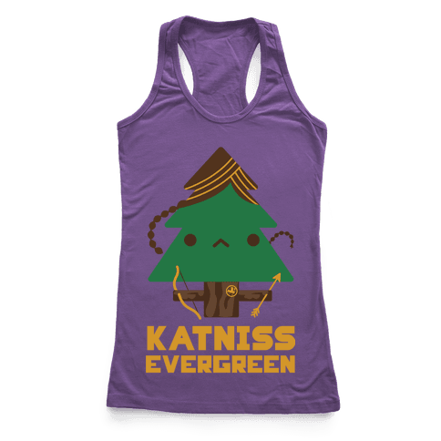 Katniss Evergreen Racerback Tank Top