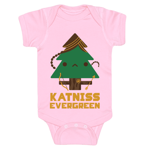Katniss Evergreen Baby Onesy