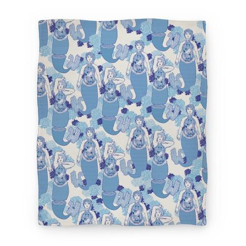 Mermaid Autopsy Pattern Blanket