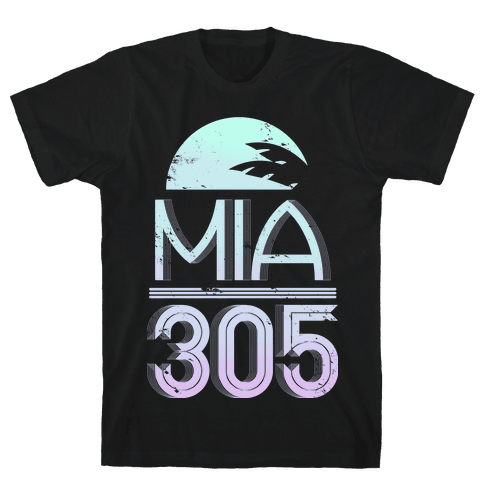 MIA 305 (color) Mens T-Shirt