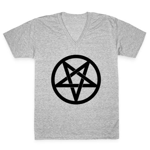 Pentagram V-Neck Tee Shirt