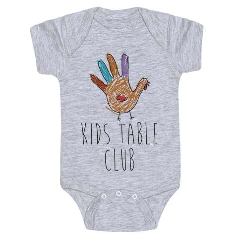 Kids Table Club Baby Onesy