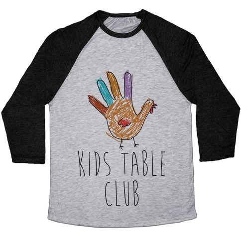 Kids Table Club Baseball Tee