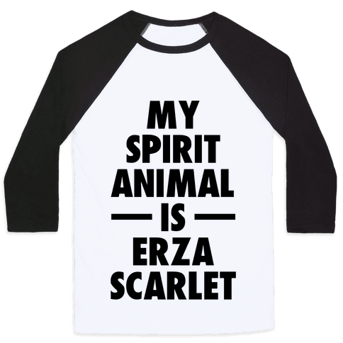 My Spirit Animal is Erza Scarlet Baseball Tee
