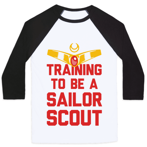 Training To Be A Sailor Scout Baseball Tee
