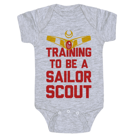Training To Be A Sailor Scout Baby Onesy