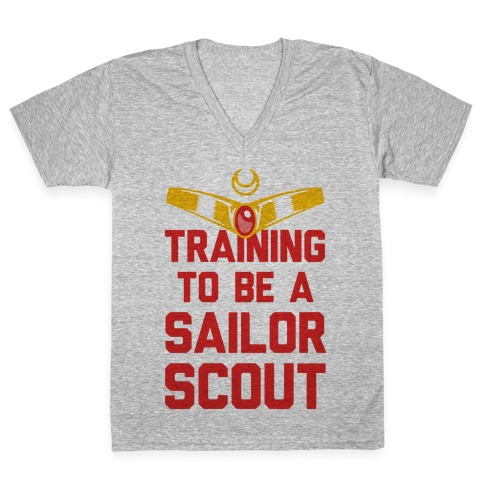 Training To Be A Sailor Scout V-Neck Tee Shirt