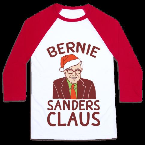 Bernie Sanders Claus Baseball Tee