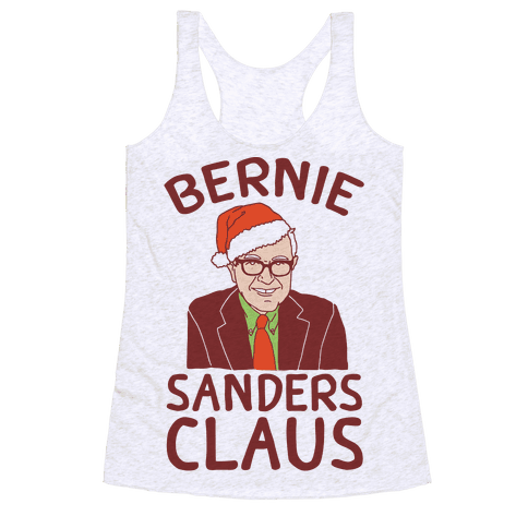 Bernie Sanders Claus Racerback Tank Top
