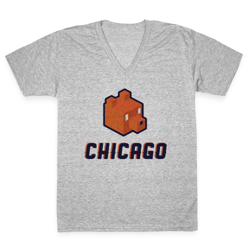 Chicago Blocks V-Neck Tee Shirt