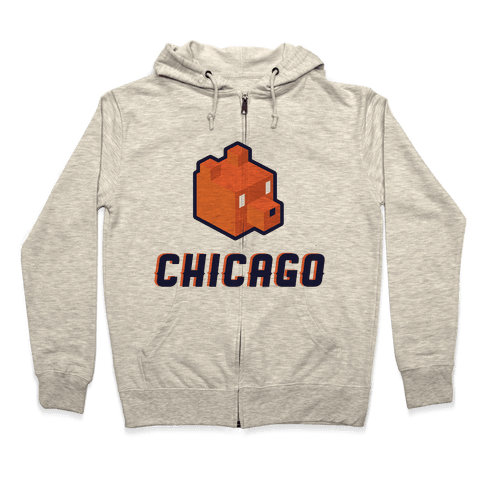 Chicago Blocks Zip Hoodie