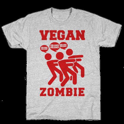 Vegan Zombie Mens T-Shirt
