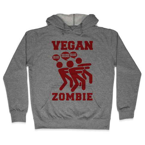 Vegan Zombie Hooded Sweatshirt