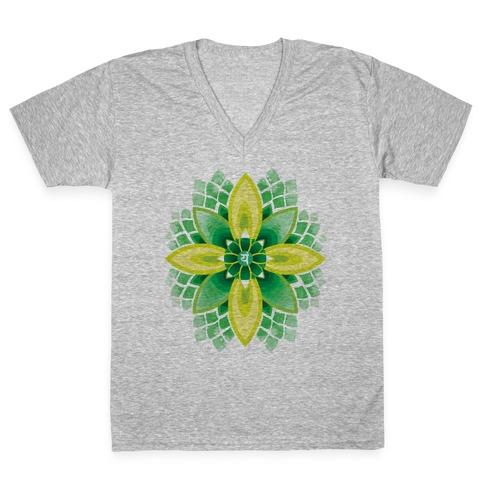 Anahata, The Heart Chakra V-Neck Tee Shirt