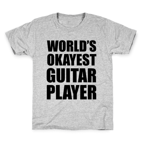 World's Okayest Guitar Player Kids T-Shirt