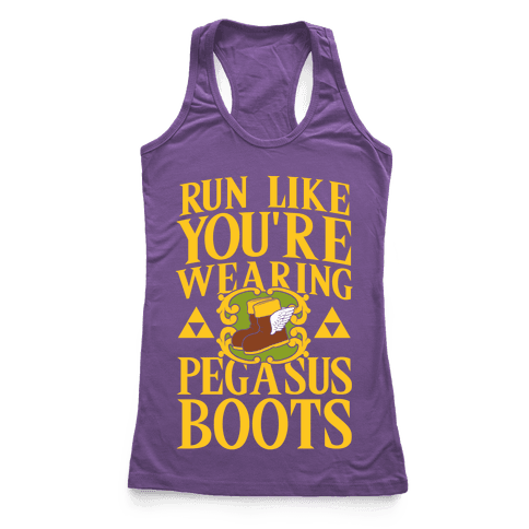 Run Like You're Wearing Pegasus Boots (light print)