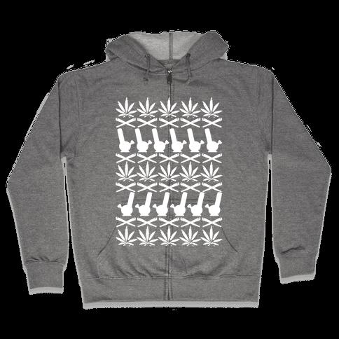 Pot Sweater Zip Hoodie