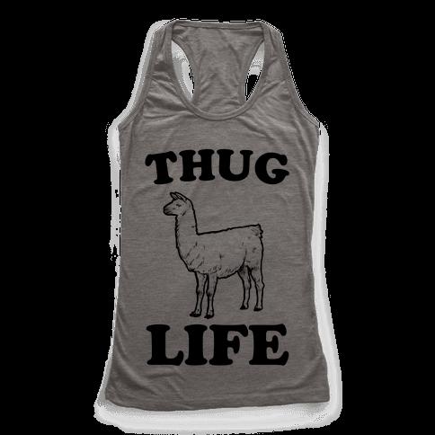 Thug Life Llama Racerback Tank Top