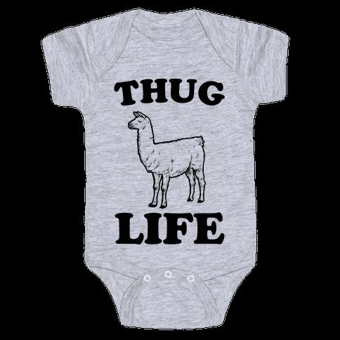 Thug Life Llama Baby Onesy