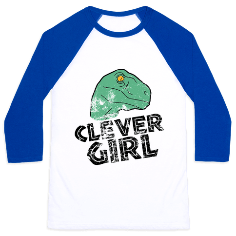CLEVER GIRL (RAPTOR) VINTAGE Baseball Tee