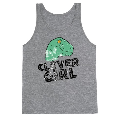 CLEVER GIRL (RAPTOR) VINTAGE Tank Top