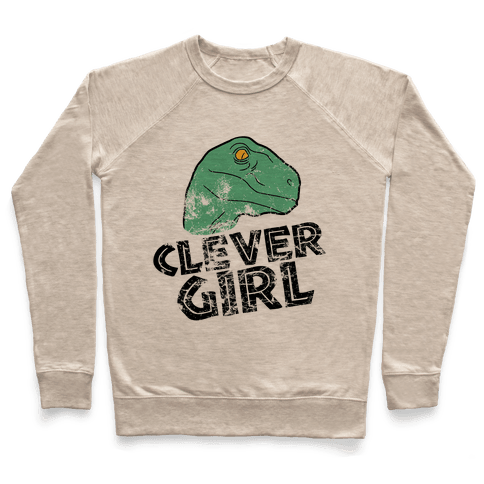 CLEVER GIRL (RAPTOR) VINTAGE Pullover