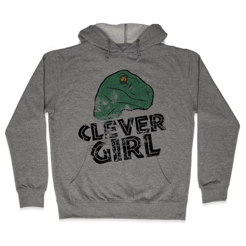 CLEVER GIRL (RAPTOR) VINTAGE Hooded Sweatshirt