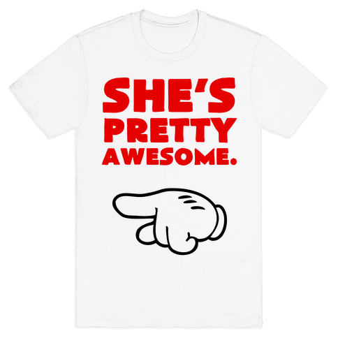 She's Awesome (Left) Mens T-Shirt