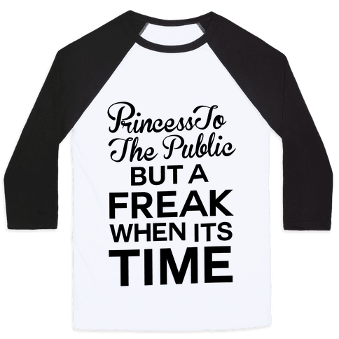Princess To The Public Baseball Tee