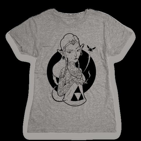 Punk Zelda Parody Womens T-Shirt