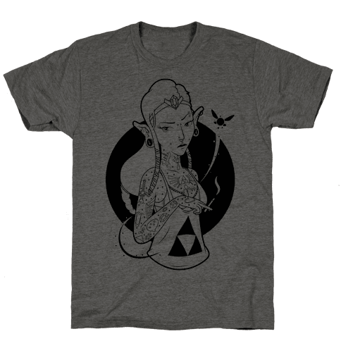 Punk Zelda Parody Mens T-Shirt