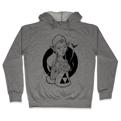 Punk Zelda Parody Hooded Sweatshirt