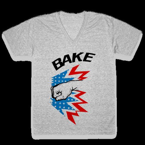 Shake and Bake (Pt. 2) V-Neck Tee Shirt
