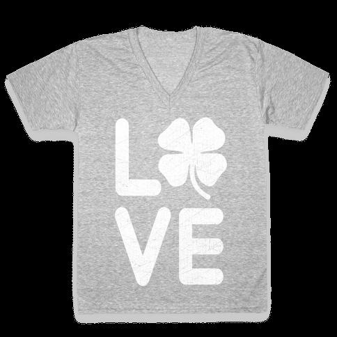 Irish Love V-Neck Tee Shirt