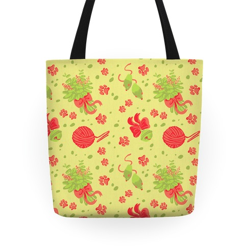 Catnip Kitty Cat Pattern Tote