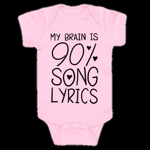 90% Song Lyrics Baby Onesy