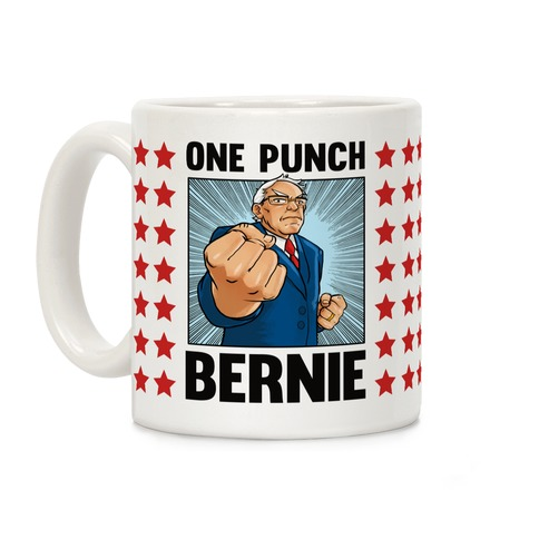 One Punch Bernie Coffee Mug