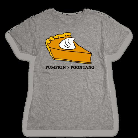 PUMPKIN VS POONTANG PIE Womens T-Shirt