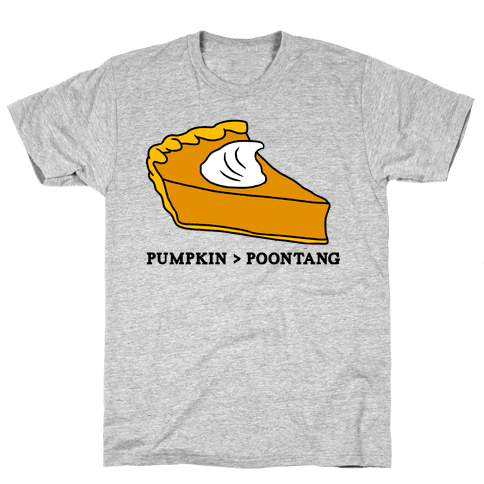 PUMPKIN VS POONTANG PIE Mens T-Shirt
