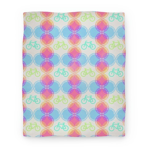 Bike pattern Blanket