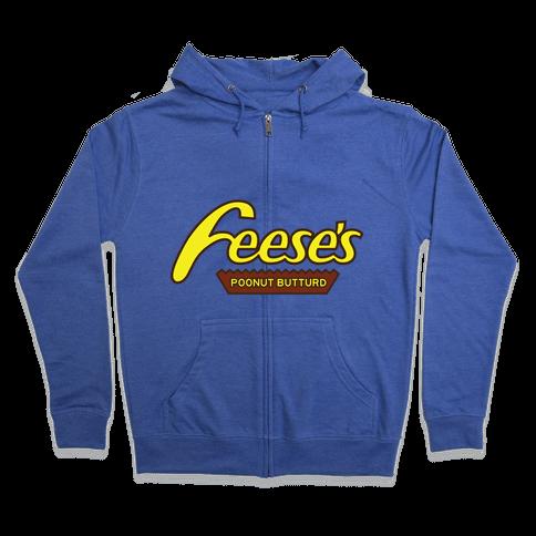 Feces Pieces Zip Hoodie