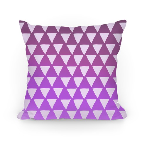 Triangle Purple Ombre Pattern Pillow