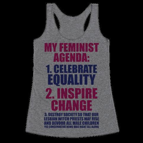 My Feminist Agenda Racerback Tank Top
