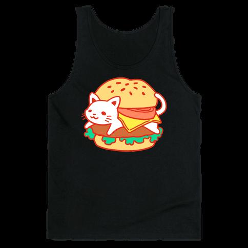Burger Cat (No Text) Tank Top